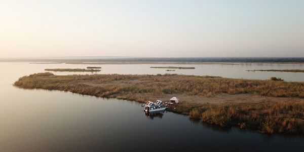 Fluss Boot Safari Sambia Afrika